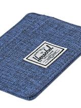 Card Holder Herschel Blue classics 10360-vue-porte