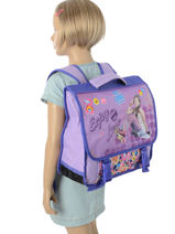 Cartable Soy luna Multicolore purple line 10LUNA-vue-porte