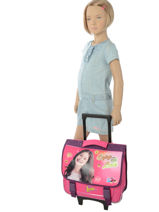 Wheeled Schoolbag Soy luna Pink enjoy 18ENJO-vue-porte