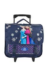 Wheeled Schoolbag Frozen Blue mono 18MONO