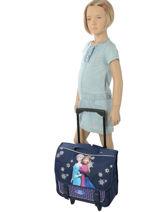 Wheeled Schoolbag Frozen Blue mono 18MONO-vue-porte