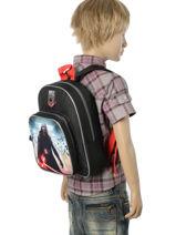 Backpack Mini Star wars Black lazer 2D2-PCB-vue-porte