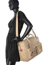 Briefcase Cowboysbag Beige vegetal 1911-vue-porte