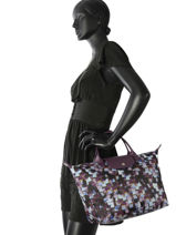 Longchamp Sac porté main Violet-vue-porte