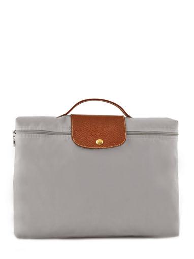 Longchamp Le pliage Briefcase Gray