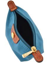 Longchamp Le pliage Coin purse Blue-vue-porte