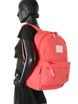 Backpack 1 Compartment Superdry Pink backpack woomen G91001DP-vue-porte