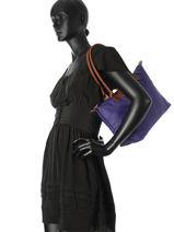 Longchamp Le pliage Besace Violet-vue-porte
