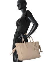 Longchamp Pénélope Sacs porté main Beige-vue-porte