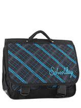 Satchel 2 Compartments Miniprix Black school 16102