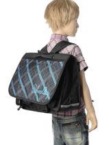 Satchel 2 Compartments Miniprix Black school 16102-vue-porte