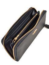 Wallet Leather Coach Blue wallet 58059-vue-porte