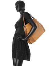 Shopper Edie Leather Coach Brown edie 57647-vue-porte