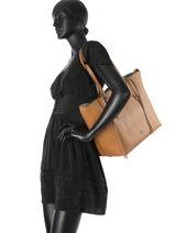 Shoulder Bag Coach Brown tote 59097-vue-porte