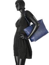 Shoulder Bag A4 Lancaster Blue maya 517-20-vue-porte