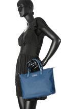 Shopping Bag Basic Vernis Lancaster Blue basic vernis 514-66-vue-porte
