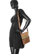 Shoulder Bag Lancaster Brown 500220-vue-porte