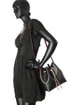 Crossbody Bag Pur Smooth Lancaster Black pur smooth 423-10-vue-porte