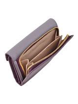Wallet Leather Lancaster Violet adeline 127-02-vue-porte
