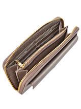 Wallet Leather Lancaster Gray adeline 127-04-vue-porte