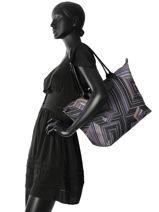 Longchamp Sac porté travers Violet-vue-porte