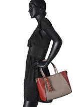 Shopping Bag Saffiano Bicolore Miniprix Red saffiano bicolore 62501-vue-porte