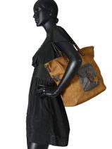 Shoulder Bag A4 Miniprix Yellow starlyn MD571-vue-porte