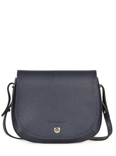 Longchamp Le foulonné Messenger bag Blue