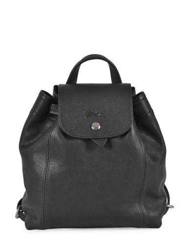 Longchamp Le pliage cuir Backpack Orange