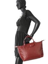 Longchamp Sacs porté main Rouge-vue-porte
