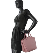 Shopping Bag  Leather Milano Pink G151108-vue-porte