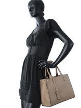 Top Handle Palma Leather Milano Brown palma PA16062-vue-porte