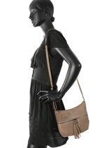 Crossbody Bag Milano Brown velvet stampa V3151104-vue-porte