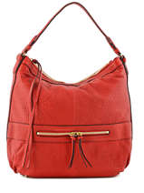 Sac Besace Midday Bubble Cuir Gerard darel Rouge bubble DFS02403
