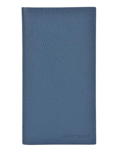 Longchamp Le foulonné Porte chéquier Bleu