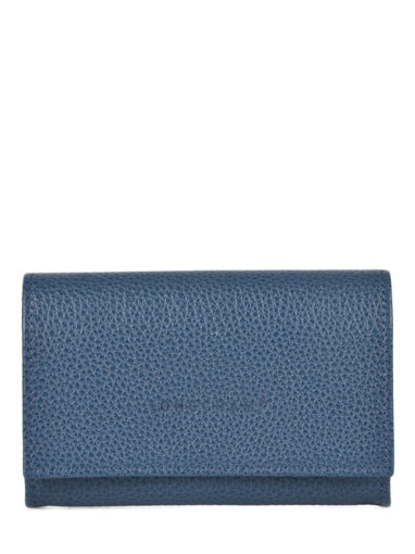 Longchamp Le foulonné Porte monnaie Bleu