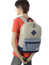 Backpack 1 Compartment Herschel Beige youth 10312-vue-porte