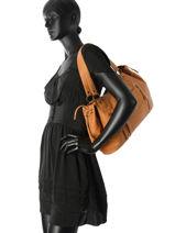 Shopper Jihano Leather Pieces Brown jihano 17083791-vue-porte