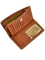 Wallet Leather Nat et nin Brown vintage ANAE-vue-porte