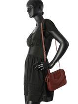 Crossbody Bag Nat et nin Red vintage ANITA-vue-porte