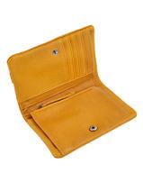 Wallet Leather Nat et nin Yellow vintage LILOU-vue-porte