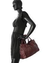 Shopping Bag Classic Leather Basilic pepper Red classic BCLA02-vue-porte