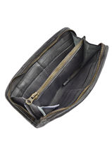 Wallet Leather Basilic pepper Gray cow BCOW91-vue-porte