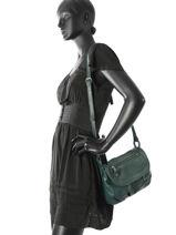 Shoulder Bag Vintage Leather Nat et nin Green vintage JEN-vue-porte