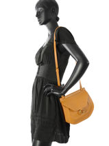 Crossbody Bag Nat et nin Yellow vintage ANJA-vue-porte