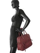 Cabas Vintage Cuir Nat et nin Rouge vintage MACY-vue-porte