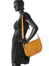 Crossbody Bag Nat et nin Yellow vintage CLAUDIA-vue-porte
