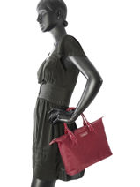 Shopping Bag Basic Vernis Lancaster Red basic vernis 66-vue-porte