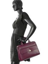 Top Handle Nami Leather Lancaster Violet nami 530-10-vue-porte