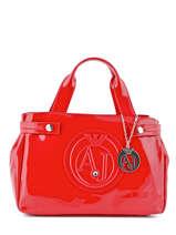 Sac Porté Main Armani jeans Rouge vernice lucida 529B-55